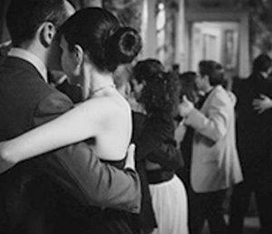 Lezione a scuola di tango