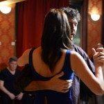 Marcella Oppezzi e Lucas Di Giorgio durante una lezione di tango
